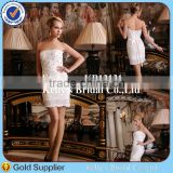 Little girl Princess newly modern design sleeveless lovely short full crystal wedding dress imported from china
