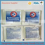 China antiseptic moist alcohol towelette
