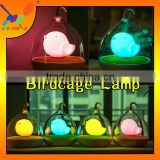 2015 New product Hot selling creative birdcage shaped lamp Lovely Touch Mini USB rechargeable LED Night Light