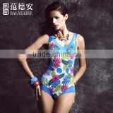 Balneaire digital print novelty design accept paypal one set free shipping women one piece swimwear
