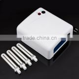 36W UV Nail Art Lamp Gel Curing Tube Light Dryer 220V EU Plug New EM