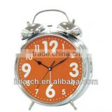 silvery-5 bell clock,table clock