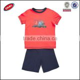 New organic 100% Cotton best selling red kid tshirt printing baby boys t shirt suit