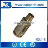 "Air compressor Machine spare parts Price Copper Plating Golden Color 1/4"" Quick Coupler"