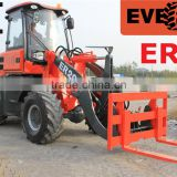 Everun Brand CE and TUV Approved Small Garden Usage Mini Front End Loader With Pallet Forks/Snow Blower/Grapple Forks
