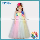 Latest Flower Birthday Dress For Baby Girl Party Dress Pictures