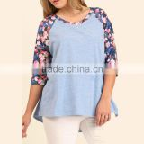 ladies uniform blouses FLORAL Baseball style TOP new model casual shirt for Women