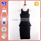 Office Wear Fashion CocKtail Party Sleeveless Suit Busniess Peplum Fitted Casual Bodycon Dress