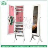 Large Tall Floor Standing Mirror Bedroom Jewellery Box Cabinet Organiser Full Length New White