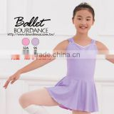 Ballet children front pinch tank skirted leotards