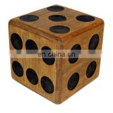 Promotional Wooden Dice handmade custom printed wooden Lawn dice wholesale
