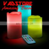 DIY Led remote control set of 3piece candle frameless LED candle fake candle decor