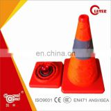 Orange Traffic Safety Cones with strip LED Lights