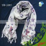100% Acrylic Floral Printed Winter Long Fashion Scarf