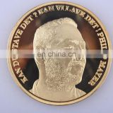 gold plated metal replica coin