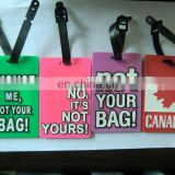 customized colorful PVC/rubber luggage tag