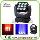 9PCS RGBW Cree Matrix moving head light,led moving head wash,cheap stage light,dmx512 led party light,club disco lights