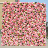 new product wedding dropback artificial rose flower wall for wedding occasion