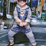 new autumn winter boy set thermal Children Tracksuit kids clothing suit boys and girls hoodie and coat+trousers