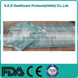 ISO 13485 Certificate disposable spunlace gown made in China reinforced by poly laminates