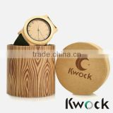 Leather Strap and Wooden Watch Water proof Wood watch for man Custom Wood leather Watch with wooden watch box display