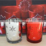 ice candle holders , red candle tin