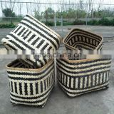 High quality best selling eco-friendly two tones bamboo baskets weaving from Vietnam