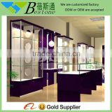 high quality wooden glass display cabinet showcase for eyeglass store                                                                         Quality Choice