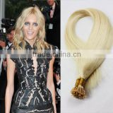 premium virgin cuticle human hair 8A grade Russian hair Italy keratin pro-bonded hair extensions