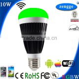 Hotel Wall Lamps 10w RGBW WiFi Led E27 E26 B22 New Bulb Smart Home Control System iPhone Android Smart App