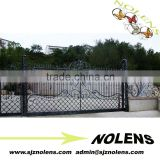modern wrought iron gate metal gate design for factory house/The Modern popular fence gate of Wrought iron