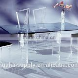 Latest Acrylic wedding dining table and chair acrylic furniture sets
