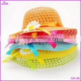 Summer Cute Hat Girl Kids Beach Hat Bag Flower Straw Hat Cap Tote Handbag Bag Suit Y001