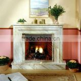 natural marble stone fireplace mantel