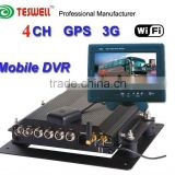 High Quality Video Recorder/ Moble DVRs/4 vedio input and 4 audio input, M-DVR with 3G