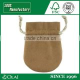 Soft custom small drawstring luxurious suede jewelry pouch bag for gift jewellery with logo
