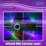 Disco ILDA 600mW RGB animation full color laser light show machine