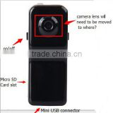 Hot Selling Mini DVR Camera & Mini DV, Black Sports Video Camera MD80 hd 720p digitable camera