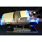 custom acrylic display stand for DeLorean Back to the Future in flight                                                                         Quality Choice