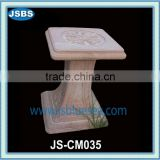 Carved Stone Square Prop Pillar