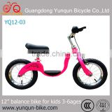 balance bike with hotsale design/ training bicycle for kids/ 12 inch steel balance bicycles