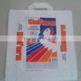 china high quality Flexo printing muti-colour single fold side bag 5kg with handle and Bopp film