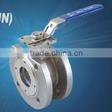 supply stainless steel 1pc wafer flanged ball valve(DIN) with mounting pad manufacturer in China