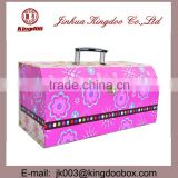Jinhua Supplier Rectangular Handmade Paper Cardboard Jewelry Box with Handle and Drawers
