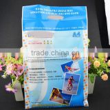 custom lamination self adhesive gravure printing A4 paper packing plastic bag for photo quality glossy paper