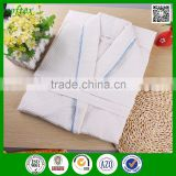China wholesale white 100% cotton bathrobes waffles hotel with clolor edge                                                                         Quality Choice