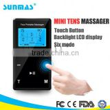Sunmas SM9028T FDA,CE,FCC approved Touch button mini health care tens personal massager                                                                         Quality Choice