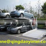 The stainless steel machine of simple mini tilting double parking car hydraulic electrical elevator for home garage
