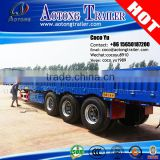 3 axles multi functions flat type side wall open semi trailer for 50tons payload