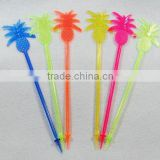 Sharp point pineapple swizzle stick / muddler / plastic sharp point pineapple stirrer / drink stirrer